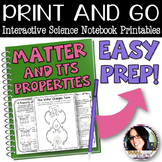 PRINT AND GO Interactive Science Notebook Sheets for Matter & Its Properties