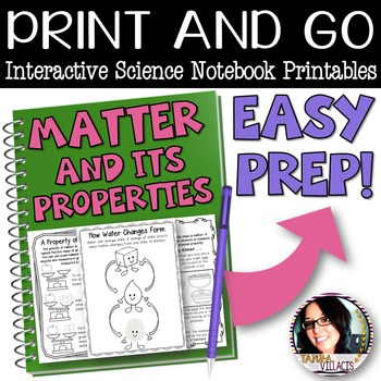 PRINT AND GO Interactive Science Notebook Sheets for Matte