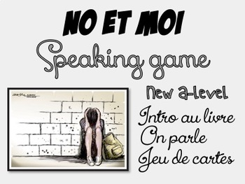 NO et MOI {GAME} - Speaking game to check first reading of the book EDITABLE