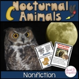NOCTURNAL ANIMALS - Nonfiction Text Features, Slideshow -