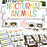 NOCTURNAL ANIMALS THEME ACTIVITIES FOR PRESCHOOL, PRE-K AND KINDERGARTEN