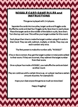 NOGGLE CARD GAME- AN INTERACTIVE, COOPERATIVE WAY TO PLAY NOGGLE