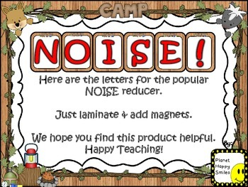 NOISE! Camping Theme (FREEBIE)