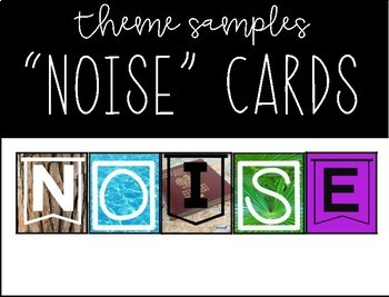 NOISE Cards: A Classroom Management Tool
