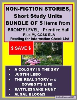 Prentice Hall Literature, BRONZE Non-Fiction BUNDLE