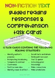 NON-FICTION Guided Reading Responses & Comprehension Task Cards