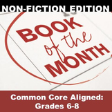"NON-FICTION Independent Reading Program: ""Book of the Month"" (Grades 6-8)"