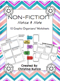 NON-FICTION: Notice and Note Worksheets & Graphic Organizers
