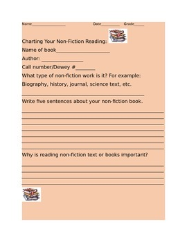 NON FICTION QUICK BOOK CHARTING FOR CENTERS
