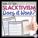 NON FICTION READING RESPONSE: SLACKTIVISM