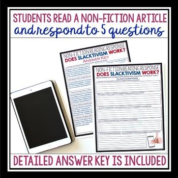 NON FICTION READING RESPONSE: SLACKTIVISM