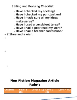 NON-FICTION article project