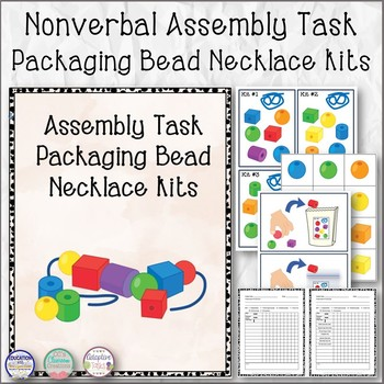 Nonverbal Assembly Task Packaging Bead Necklace Kits
