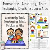 Nonverbal Assembly Task Packaging Block Pattern Kits