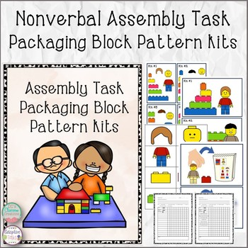 Nonverbal Assembly Task Packaging Block Pattern Kits