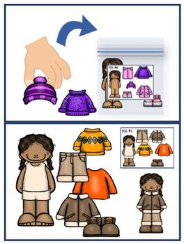 NON Verbal Assembly Task Packaging Paper Doll Kits