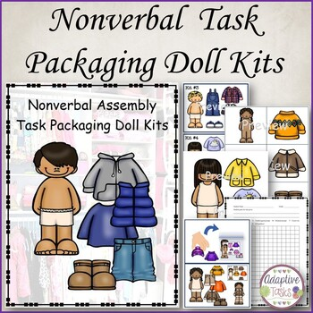 Nonverbal Assembly Task Packaging Paper Doll Kits