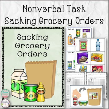NON Verbal Task Sacking Grocery Orders
