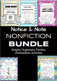 NONFICTION BUNDLE: Graphic Organizers, Posters, Activities, Worksheets!