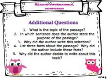 NONFICTION (English) Anchor Charts/Posters & Organizers