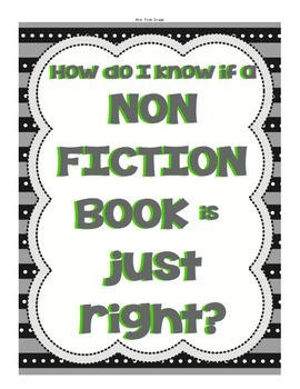 NONFICTION Just Right Books
