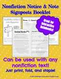 NONFICTION Notice & Note Signposts Booklet