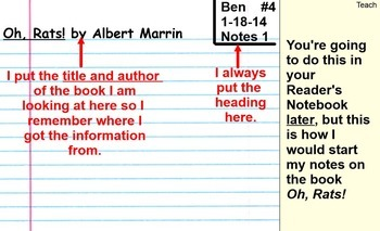 NONFICTION RESEARCH PROJECTS - Reading - COMPLETE - 12 SESSIONS - SMART Notebook