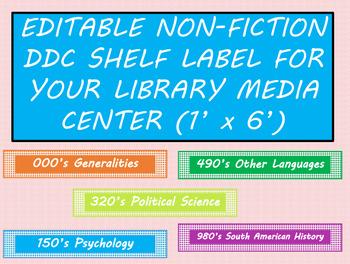 """NONFICTION SHELF LABEL (1""""x6"""")"""