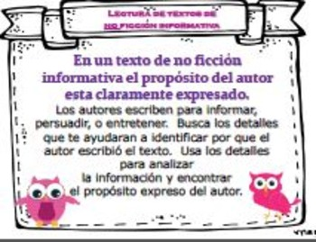 NONFICTION (Spanish) Posters/Anchor Charts & Organizers