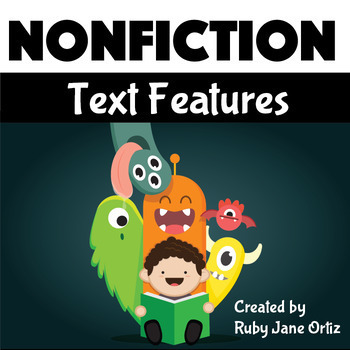 Nonfiction Text Features Posters with Monsters