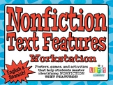 NONFICTION TEXT FEATURES Workstation - English & Spanish!