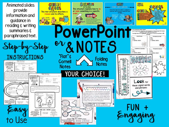 NONFICTION TEXT STRUCTURES POWERPOINT & NOTES FOR MIDDLE SCHOOL ENGLISH