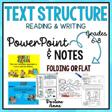 TEXT STRUCTURES POWERPOINT & NOTES FOR MIDDLE SCHOOL ENGLISH