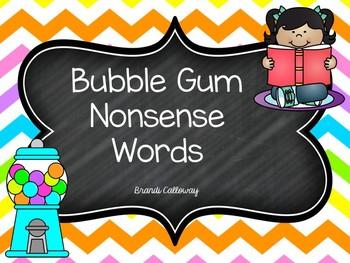 NONSENSE BUBBLE GUM WORDS Fluency Powerpoint Presentation