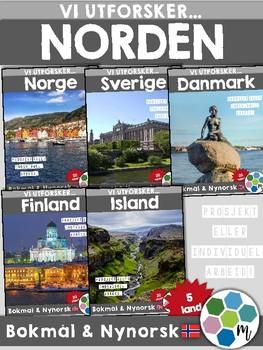 NORDEN - Samlepakke, Land i Europa [Utforskingsopplegg] [BM&NN]
