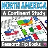 North America A Continent Research Flip Book Template
