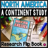 North America A Continent Research Flip Book Template