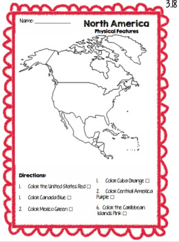 NORTH AMERICA- Countries & Physical Features