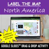 NORTH AMERICA Drag & Drop Activity & Map Puzzle   Google Slides™