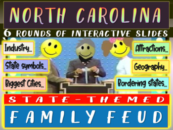 NORTH CAROLINA FAMILY FEUD Engaging game about cities-geography-industry-&-more