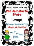 NORTH CAROLINA Music Activities-RECORDER-Worksheets on Counties-RHYTHM PATTERNS