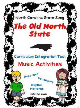 NORTH CAROLINA Music Activities-RECORDER-Worksheets on Cou