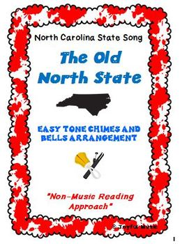 NORTH CAROLINA STATE SONG Easy Chimes & Bells Arrangement THE OLD NORTH STATE