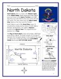 NORTH DAKOTA - Introductory Geography Worksheet