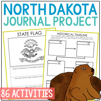 NORTH DAKOTA History Project, Differentiated State Research Journal {EDITABLE}