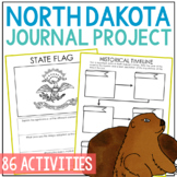 NORTH DAKOTA History Project with Lesson Plans, State Research Journal