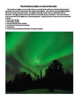 NORTHERN LIGHTS/AURORA BOREALIS INFORMATIONAL TEXT (GRADES 4 - 8)