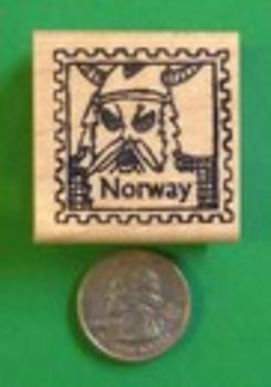 NORWAY Country/Passport Rubber Stamp