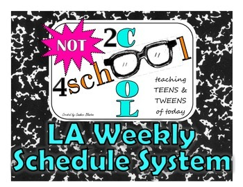 NOT2cool4school LA Weekly Schedule System (6 PAGES OF PRINTABLES!)