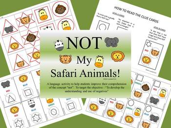 NOT My Safari Animals (exclusionary concepts)